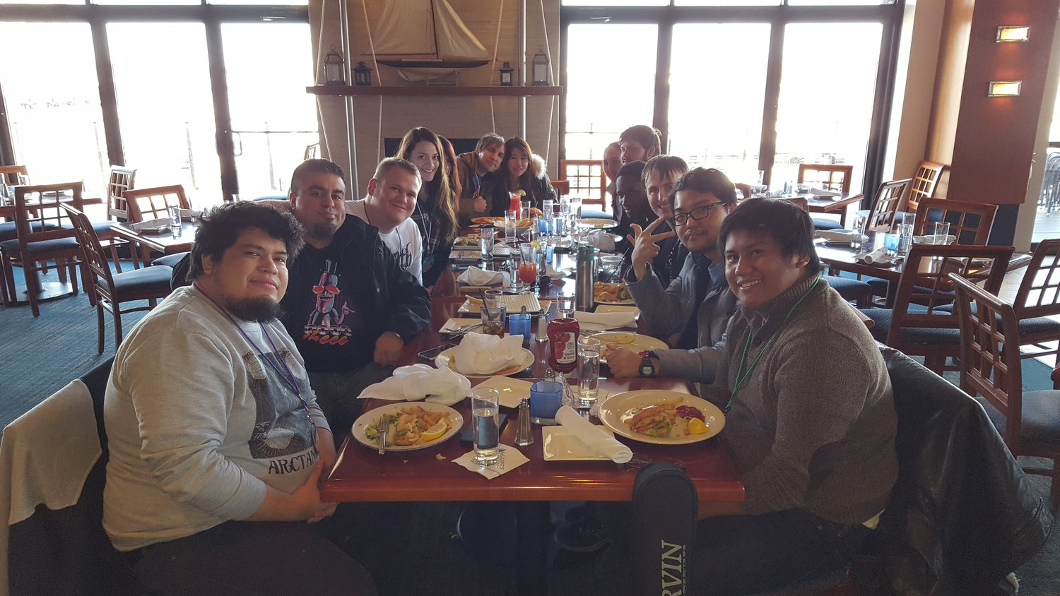 From L to R (BlackearacheXD, Project Genesis, Yours Truly, Medllix, Medllix's friend, Steven Morris, Steven's wife, Bassoonify's wife, Bassoonify, Subversiveasset, Dannymusic, Legendav, and Xnarky).