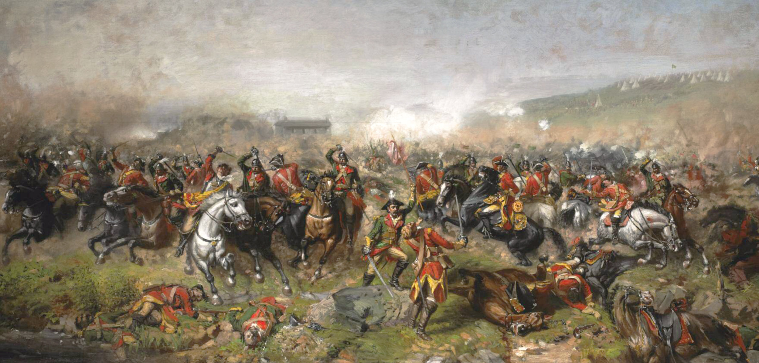 The Battle of Aughrim , by  John Mulvany  (1885),