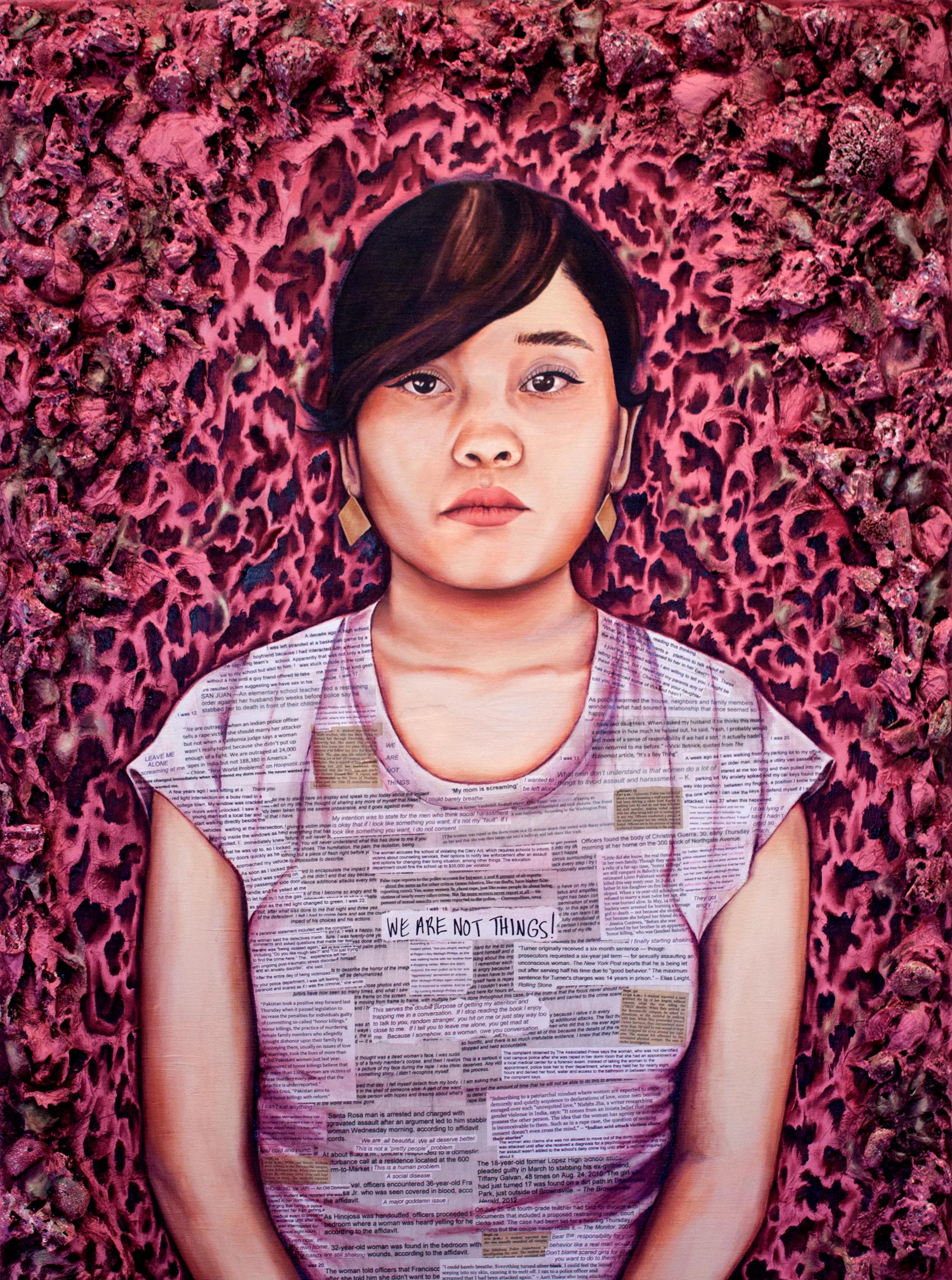 """""""Manifestation."""" Mixed media on wood panel. 4' x 3.' 2016."""