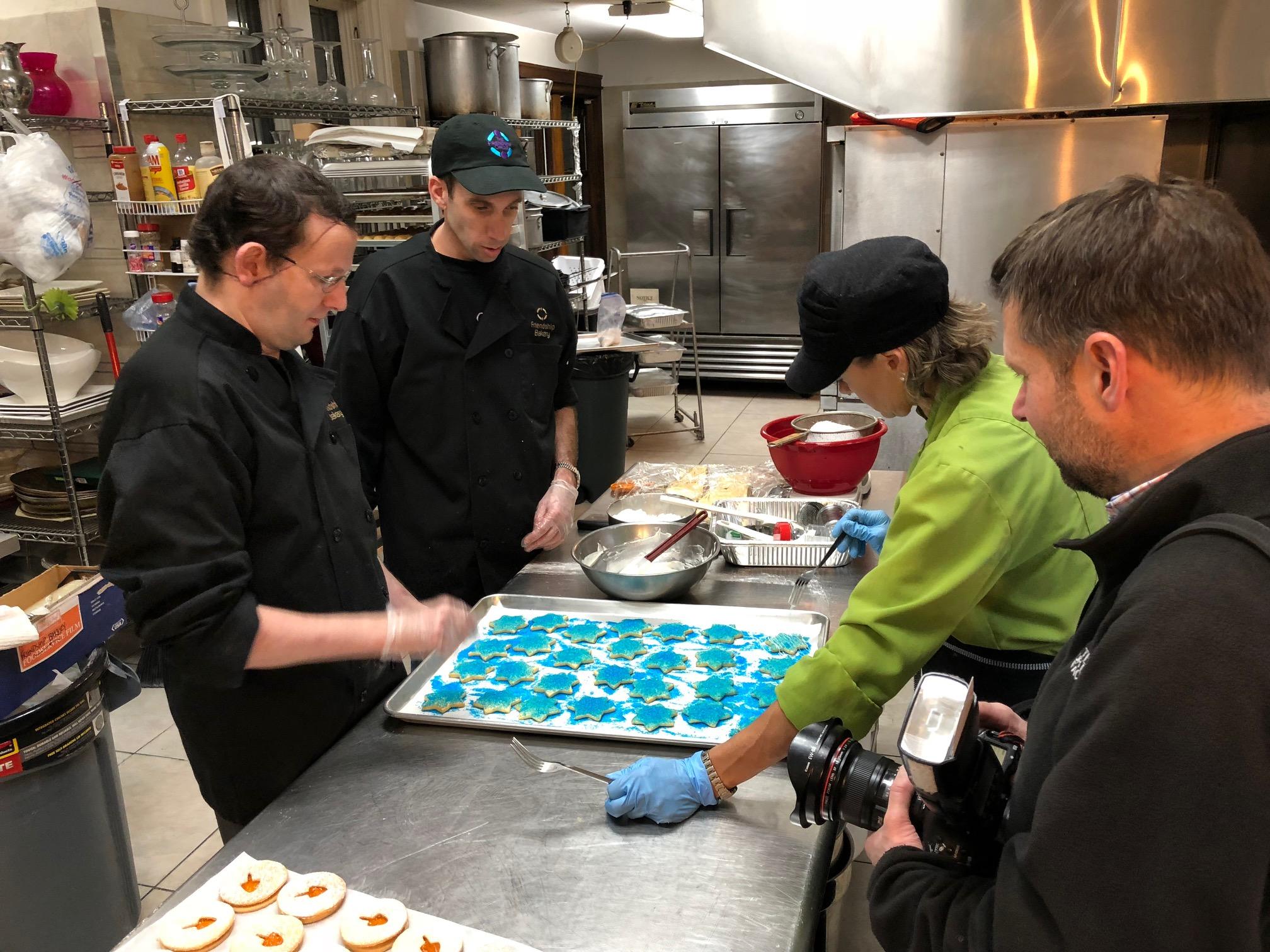 Making Chanukah Cookies