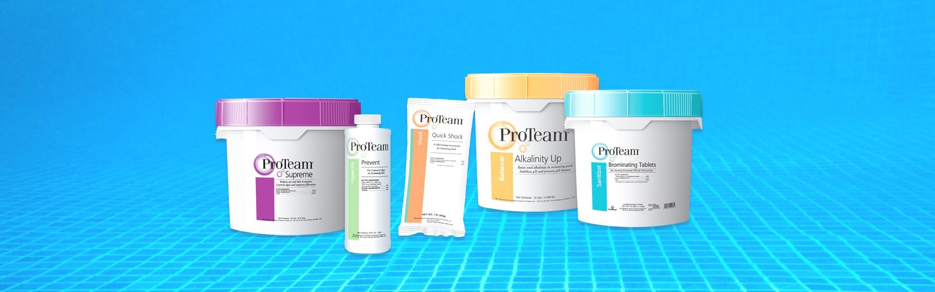 A selection of products from  ProTeam Pool Care .