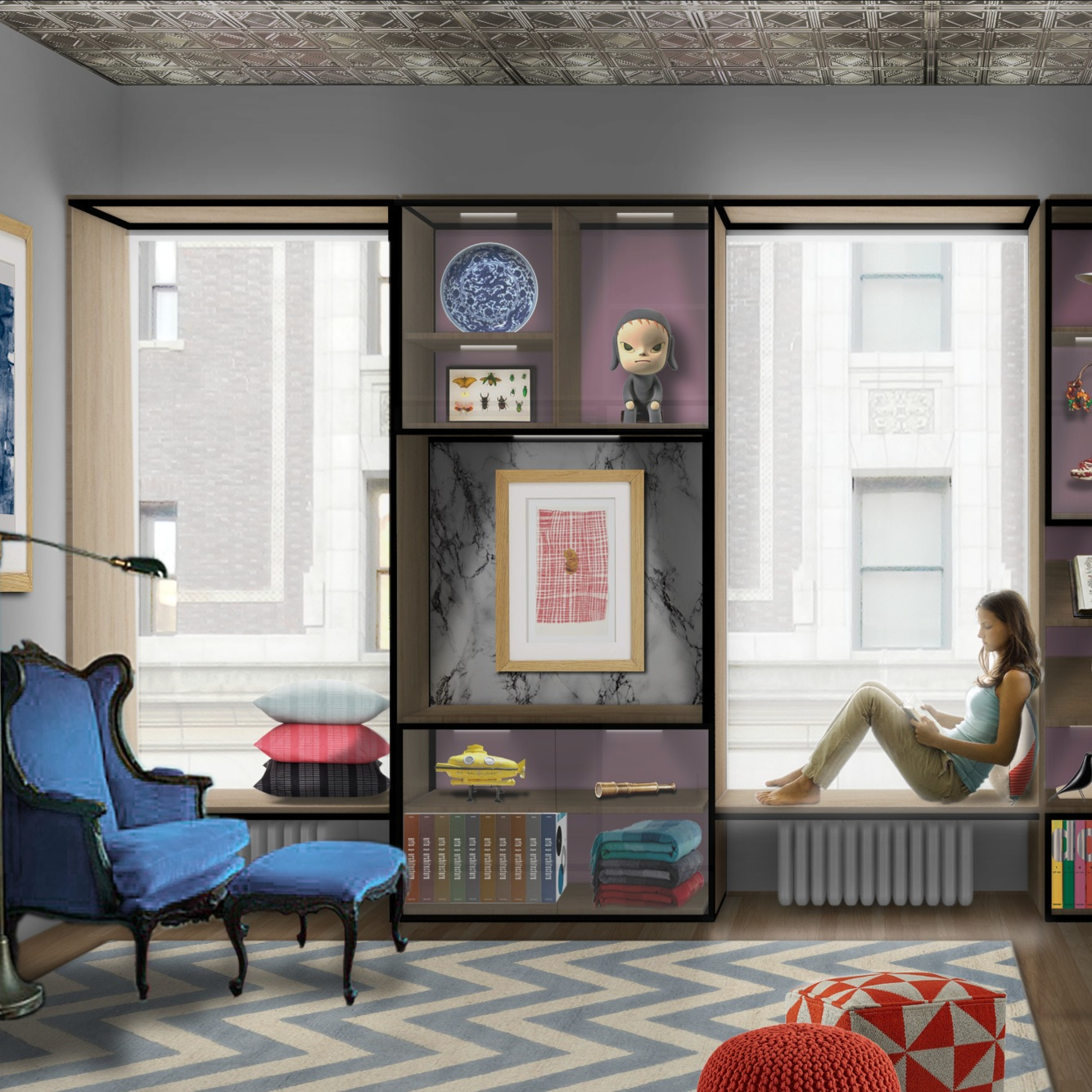 New York City Apartment   An interiors project to redesign the apartment of an avid art collector