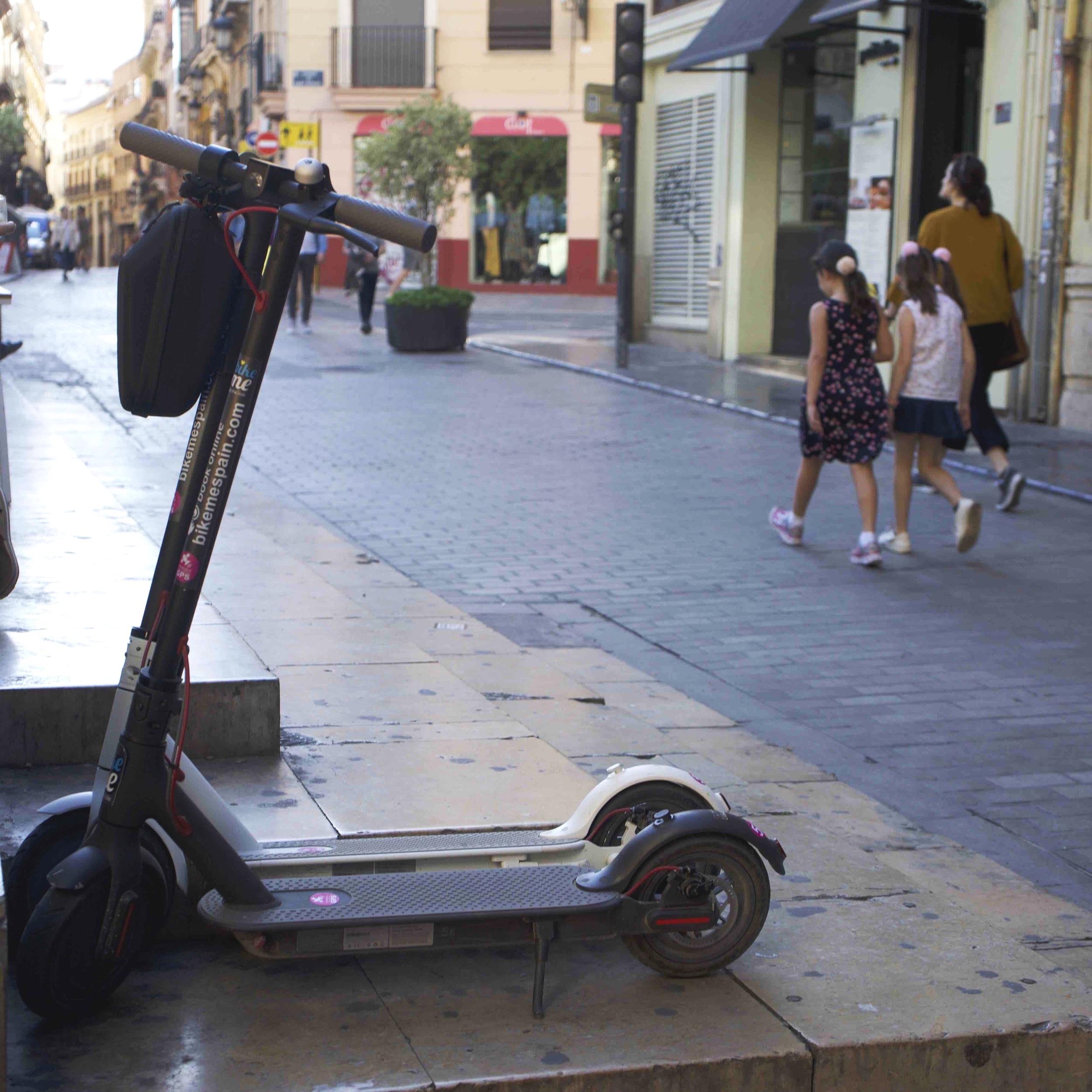 Electric scooters for hire - approx. €20 a day