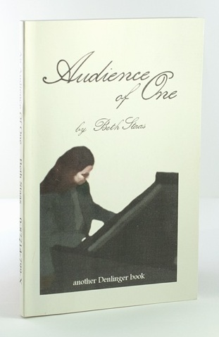 Audience of One book cover, with young woman playing at a grand piano.