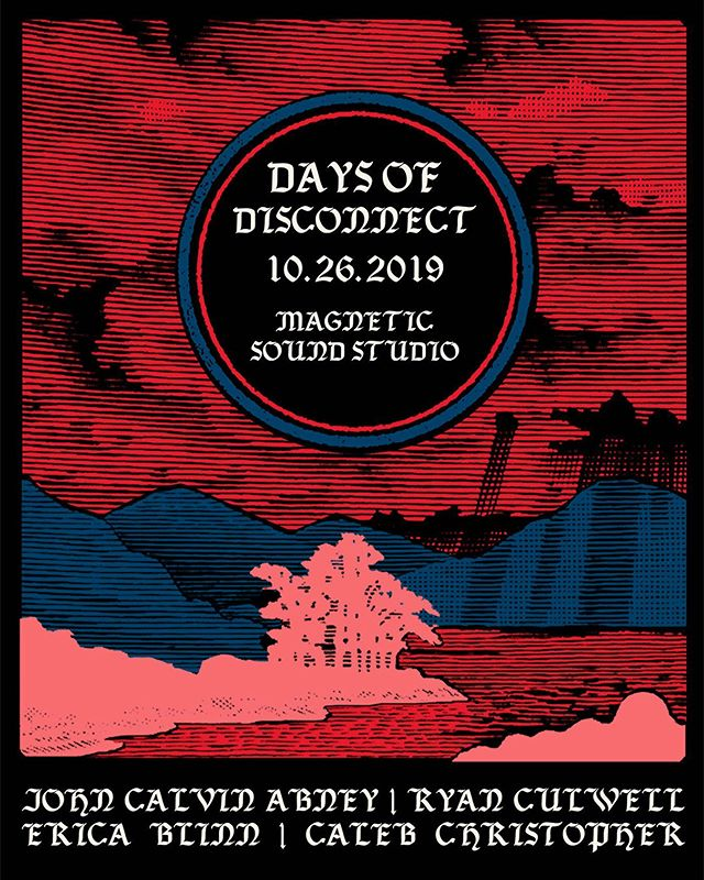 Join us for Days of Disconnect. Celebrating the Nashville release of Safe Passage, the new album by John Calvin Abney. Featuring performance by Caleb Christoper, Erica Blinn, Ryan Culwell and John Calvin Abney.  Safe with no trouble or worry. *displays from local artists *Fire pit *FREE BEER In the Backyard at Magnetic Sound ^limited parking
