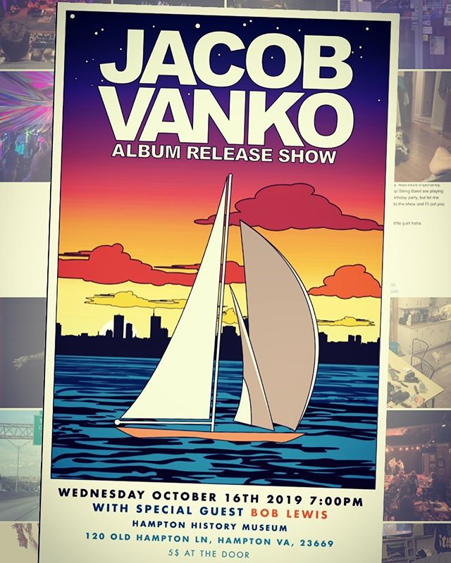 "Stoked about playin @jacobvanko's ""ten years"" music release show Wednesday.💚✌️"