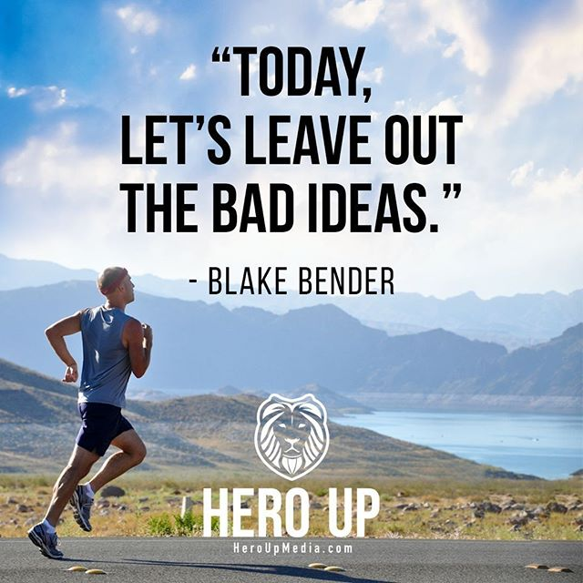 """""""Today, let's leave out the bad ideas."""" - Blake Bender⠀ ⠀ #quotes #confidence #love #motivation #selflove #success #life #goals #inspiration #entrepreneur #happy #loveyourself #positivity #happiness #believe #selfcare #mindset #smile #business #selfconfidence #dreamjob #passion #business #successful #wealth #health #motivationmonday #heroup #jimsimcoe #blakebender"""