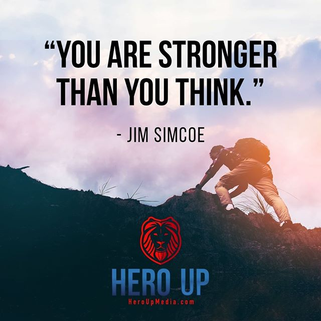 """""""You are stronger than you think."""" - Jim Simcoe⠀ ⠀ #quotes #confidence #love #motivation #selflove #success #life #goals #inspiration #entrepreneur #happy #loveyourself #positivity #happiness #believe #selfcare #yourself  #mindset #smile #business #selfconfidence #dreamjob #passion #business #successful #wealth #health #motivationmonday #heroup #jimsimcoe"""