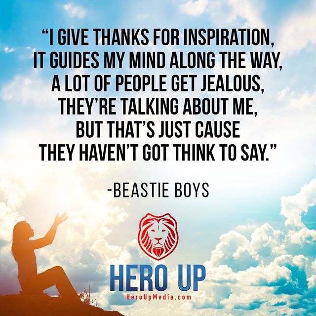 """""""I give thanks for inspiration it guides my mind along the way, a lot of people get jealous, they're talking about me, but that's just cause they haven't got think to say."""" - Beastie Boys⠀ ⠀ #quotes #confidence #love #motivation #selflove #success #life #goals #inspiration #entrepreneur #happy #loveyourself #positivity #happiness #believe #selfcare  #mindset #smile #business #selfconfidence #dreamjob #passion #business #successful #wealth #health #motivationmonday #heroup #jimsimcoe #BeastieBoys"""