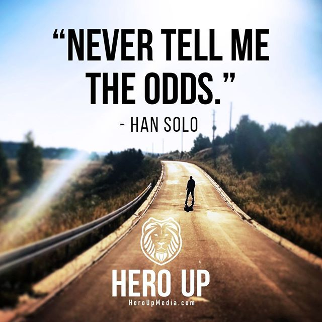 """""""Never tell me the odds."""" - Han Solo⠀ ⠀ #quotes #confidence #love #motivation #selflove #success #life #goals #inspiration #entrepreneur #happy #loveyourself #positivity #happiness #believe #selfcare #mindset #smile #business #selfconfidence #dreamjob #passion #business #successful #wealth #health #motivationmonday #heroup #jimsimcoe #hansolo"""