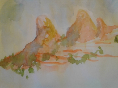 Sedona, watercolor sketch