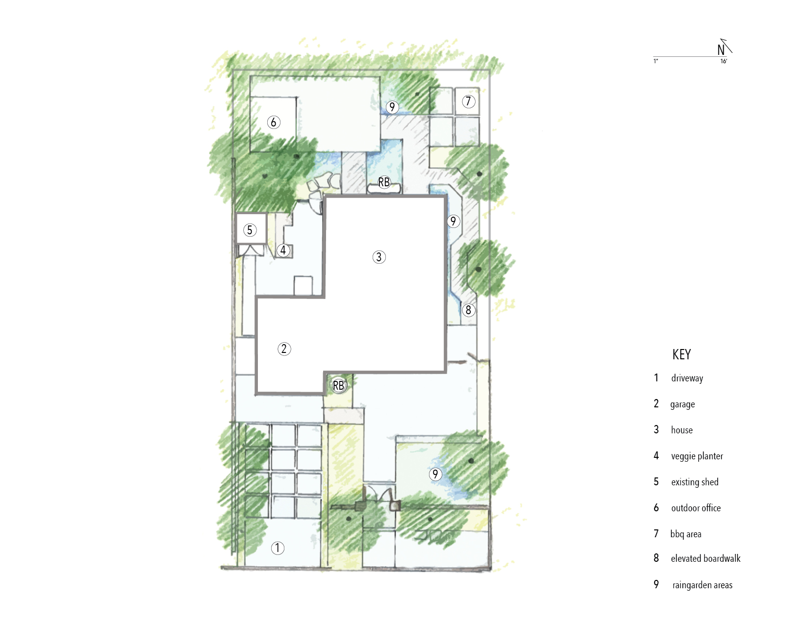 Site plan from  FWL  offices