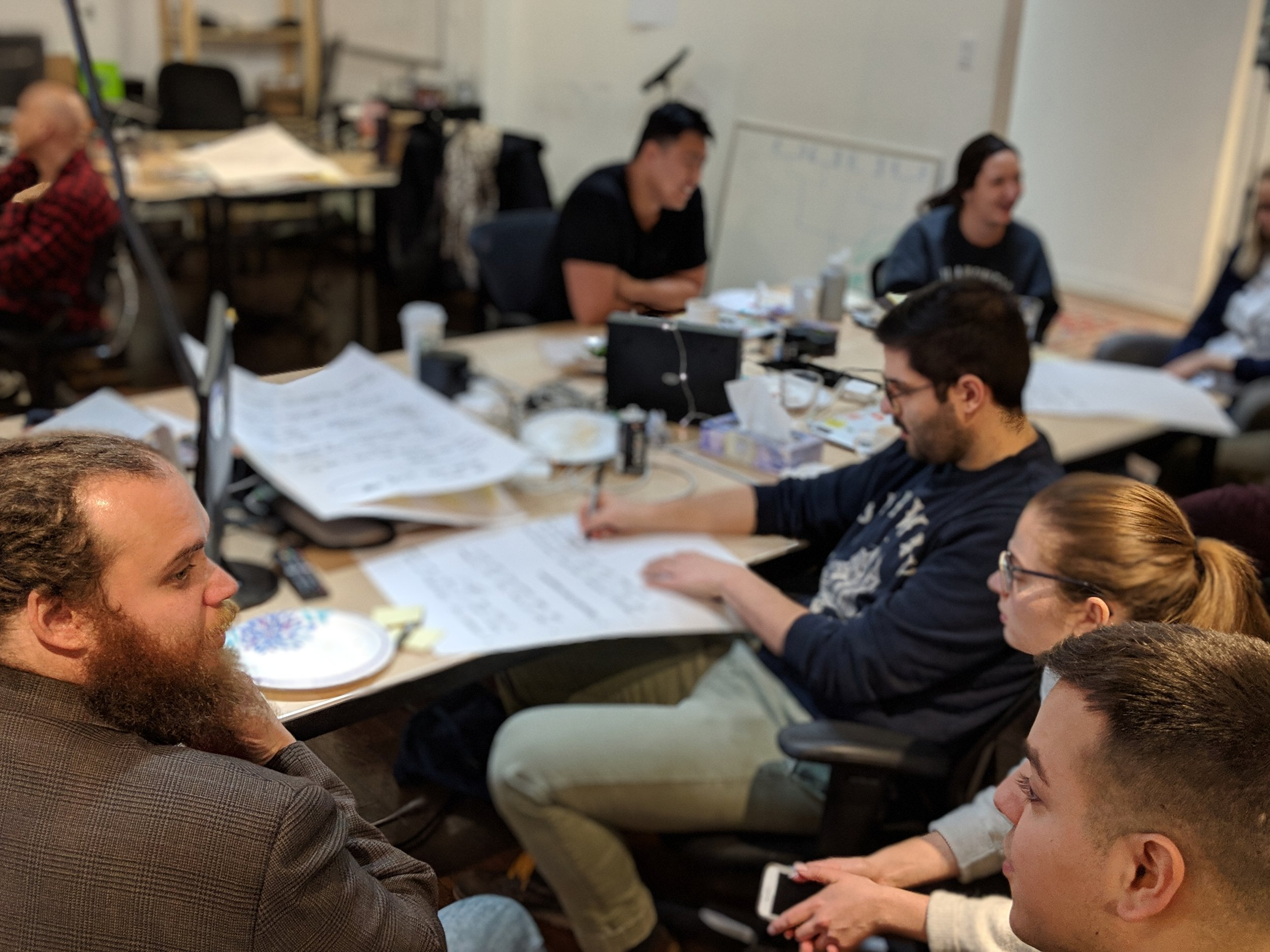 After splitting into small groups, each team was tasked with different brainstorming exercises to dream up ways augmented reality could be used for fintech.