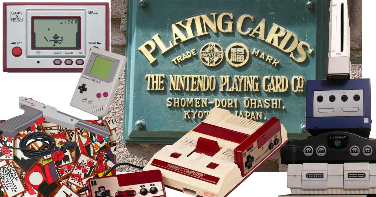 NINTENDO STARTED OUT AS A CARD COMPANY
