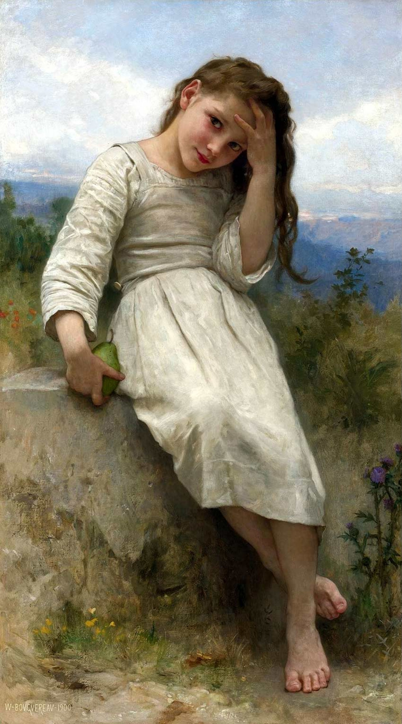 A painting of Bouguereau