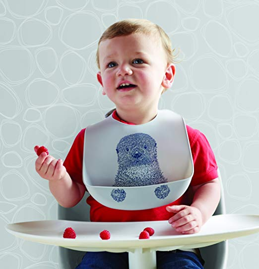 The stylish bib that grows with you - There are lot of babybjorn bib fans out there but honestly, the modern twist silicone bib is way more versatile. It actually rolls away for portability, actually catches food and has a very comfy neckline. I still put it on my 5yo when she's having a messy sundae. :)