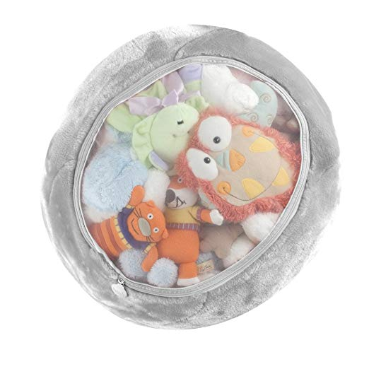 Make the stuffed animals work for you - If you have a child, you will have stuffed animals. Use this Boon Stuffed Animal Bag to make a clear home for them, that will also double as a bean bag. Gotta love the designers at Boon — they just keep nailing it!