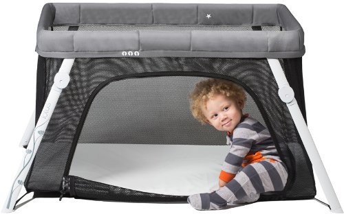 Sleep, Nap & Play - The Lotus Portable Crib is kind of like a little transformer. It works great as a portable crib, play yard and also a fort (when they're older). We have gotten so much out of this and we're sad to give it away. Let grandma get this one for you. So portable you can bring it over anytime.