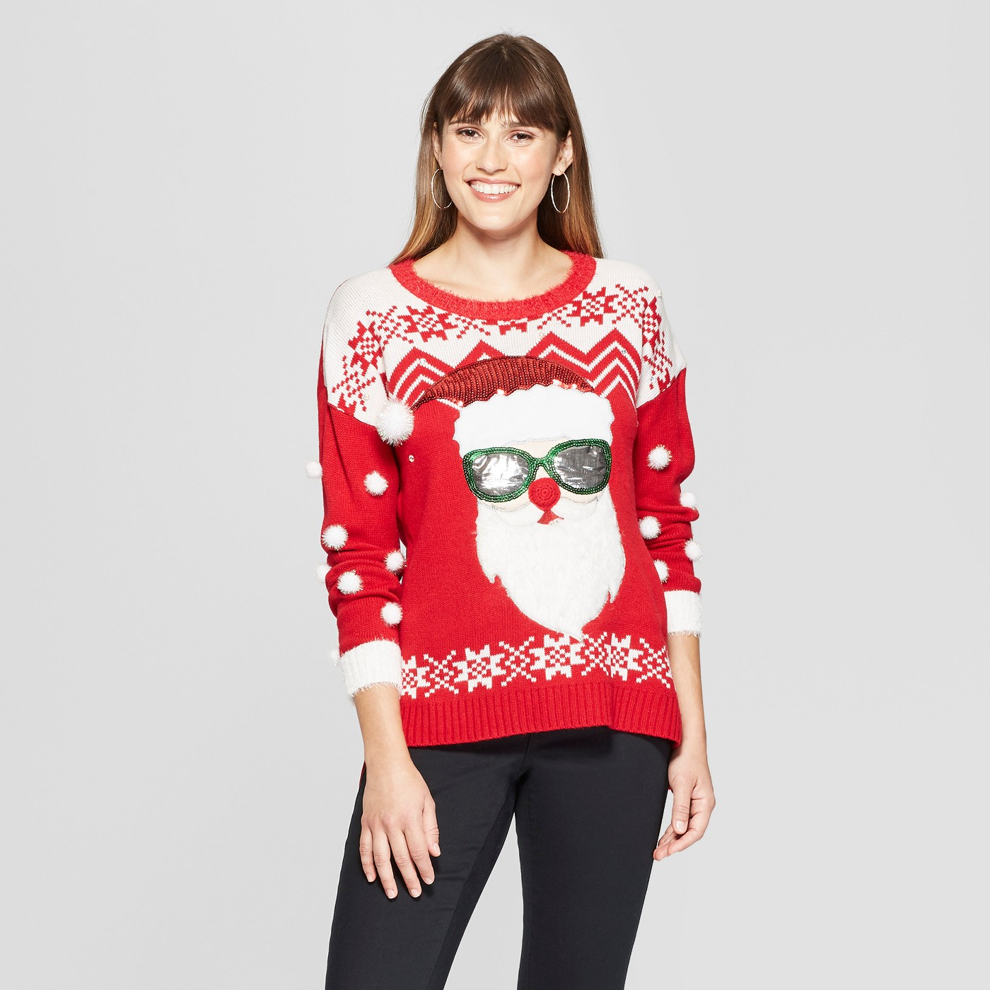 Sunglass santa sweater for women - No puns here but still a chic looking sweater. ($39.99)