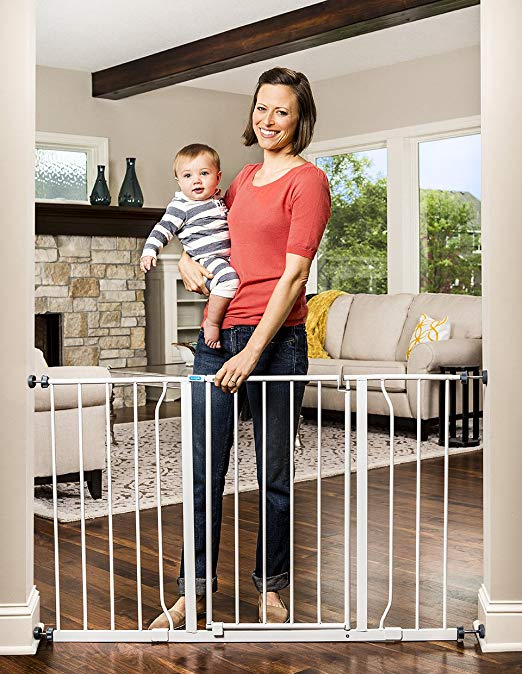 """Narrow 50"""" gates - Regalo are the kind of baby gates and these go up to 50"""" wide."""