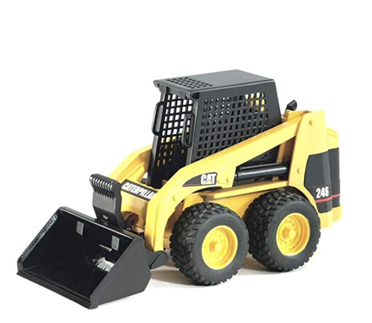 Bruger skid cat loader - I'm probably late to the game but only discovered Bruder's recently. They are exact replicas and are built to last years. They go from sandbox to the bath. Virtually indestructible.