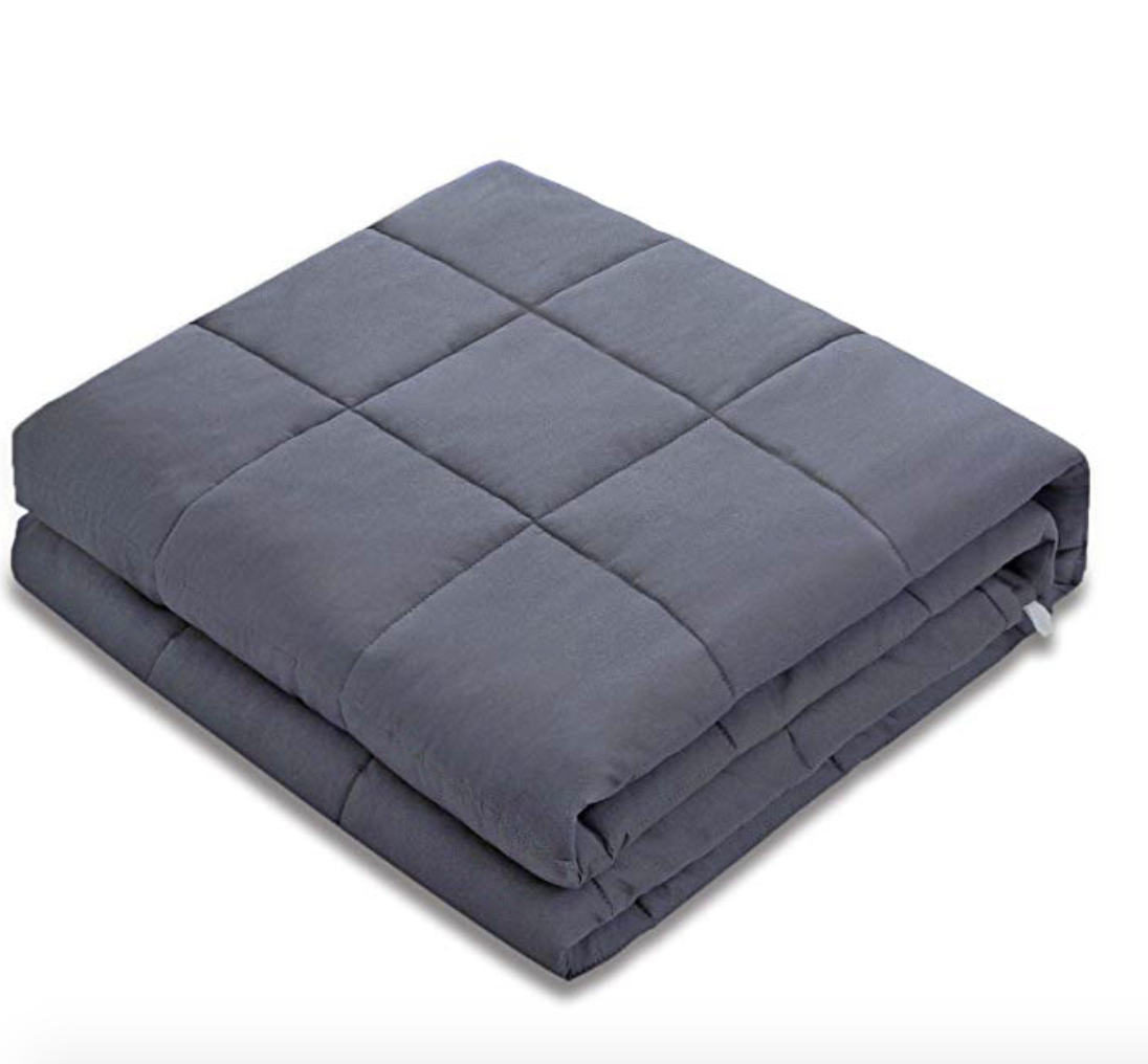 Gift of good sleep - The weighted blanket has revolutionized the quality of my sleep. I fall asleep much quicker and stay asleep for longer. So much so, that I can't get through a full TV episode anymore! Make sure you pick one that is 10% of their bodyweight. I had great success with this brand.