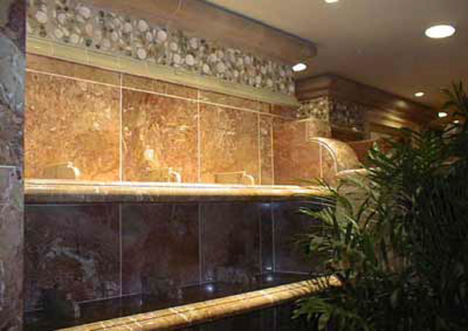 Project:  The Bellagio Hotel   Location:  Las Vegas, Nevada   Description:  Beautiful Italian marble with trim made from real shells and ocean sand.