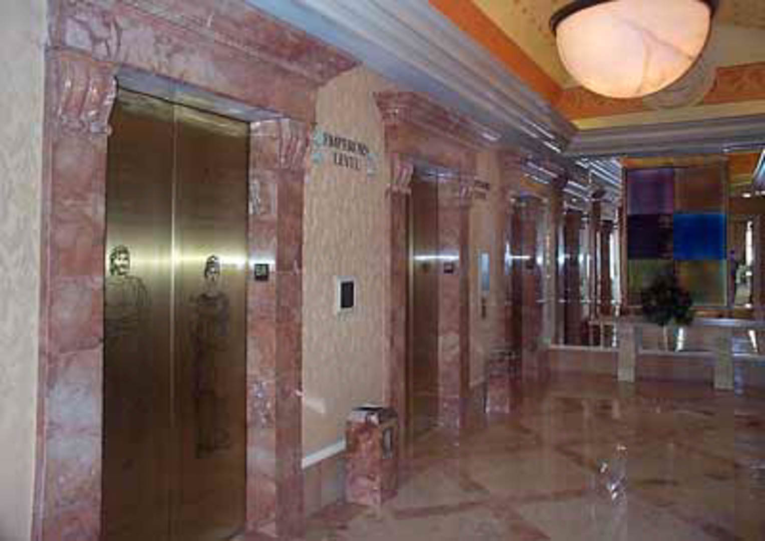 Project:  Caesars Palace Hotel   Location:  Las Vegas, Nevada   Description:  Carrara provided 36 of these hand-carved Italian marble elevator surrounds.