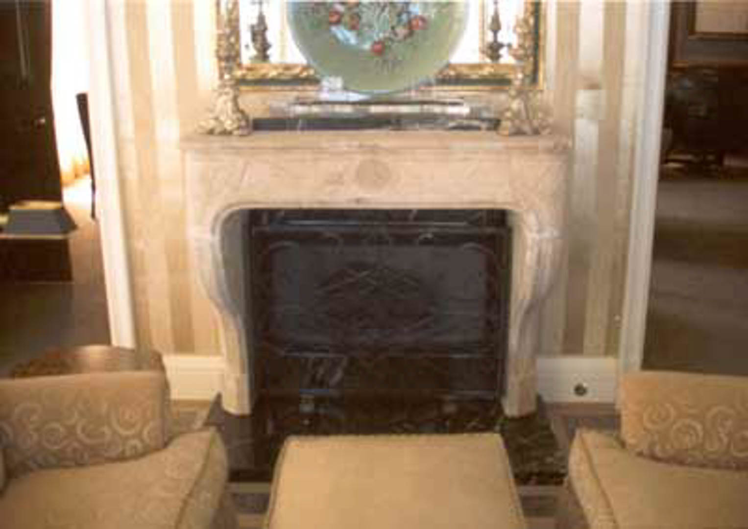 Project:  Caesars Palace Hotel   Location:  Las Vegas, Nevada   Description:   This is another example of carved marble fireplaces made to custom specifications for a hotel luxury suite.