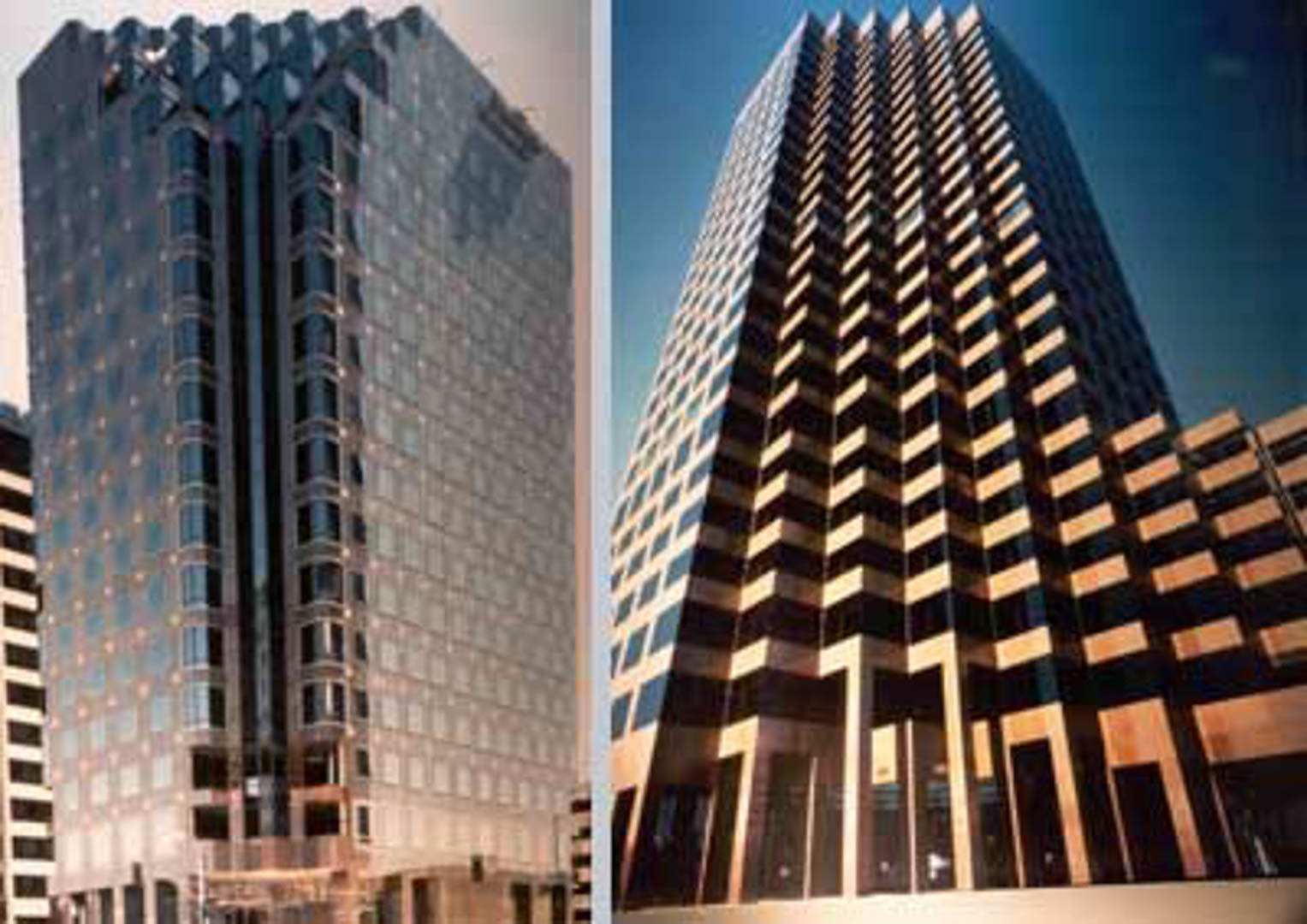 Project:  Wilshire Landmark   Location:  Los Angeles, California   Description:  The saw tooth Napoleon Red Granite facade of this 27-story high rise is a distinctive landmark along West Los Angeles' Wilshire Boulevard.