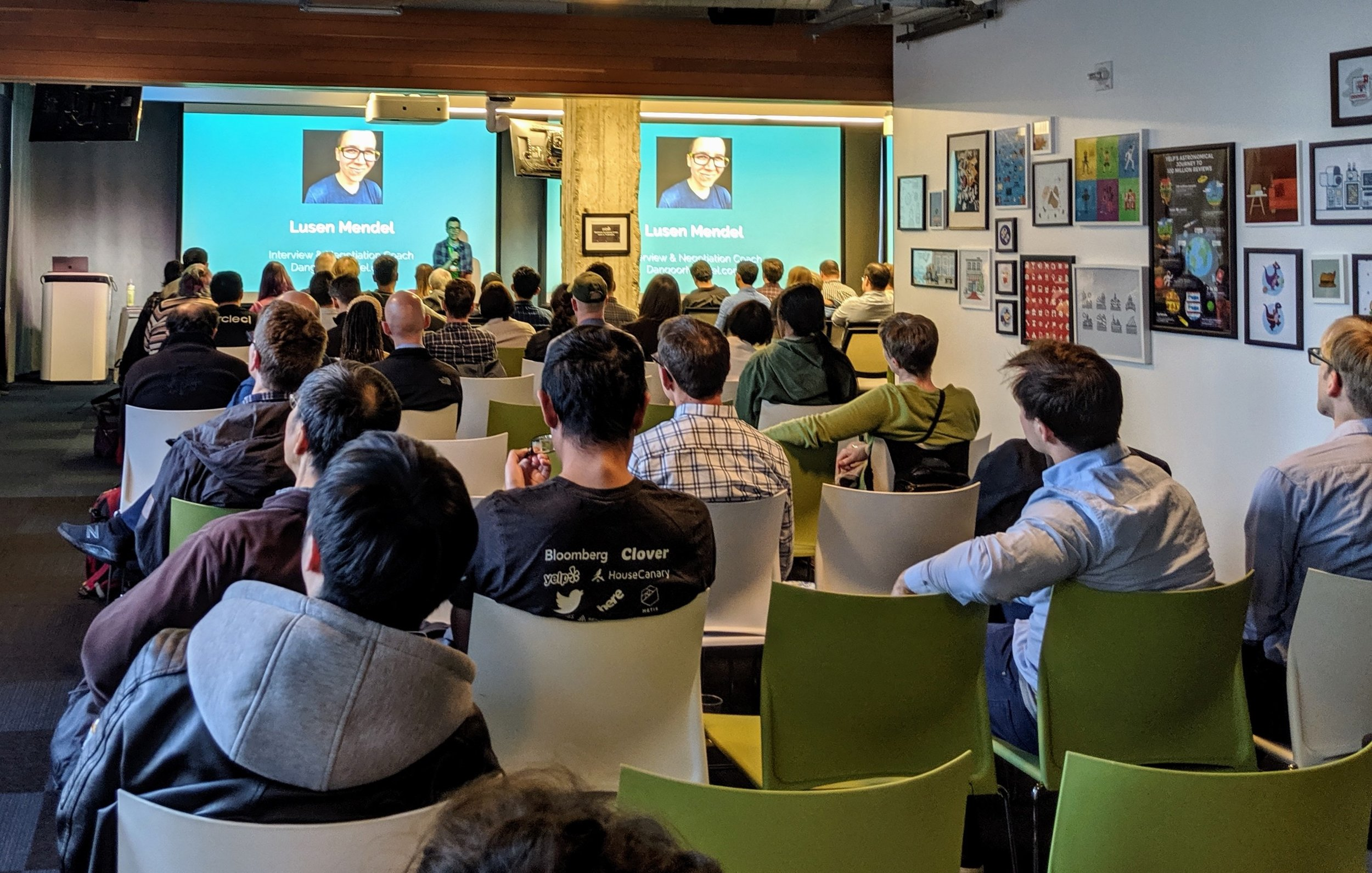 We gave a talk on negotiation and self-advocacy at SF Python!