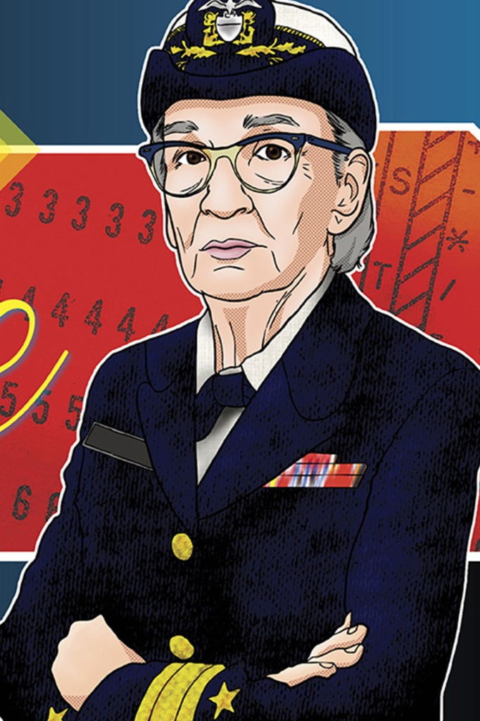 A tribute to Rear Admiral Grace Hopper, created by the Military Officers' Association of America.  Credit: MOAA