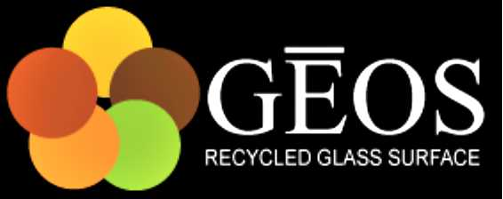 GEOS® Recycled Glass Surfaces - If you're looking for an environmentally friendly countertop with a sophisticated color pallet, look no further than GEOS® Recycled Glass Surfaces. GEOS® is a new environmentally friendly countertop material made from recycled glass and a proven proprietary binder that ensures a strong and durable countertop that does not require sealing. Much of our glass is sourced from recycling centers or directly from factory by-product. The unique combination of colors make for an amazing array of colors that will set any kitchen apart.