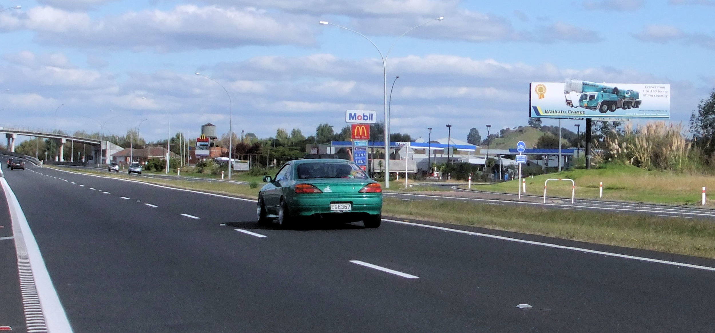 Viewed southbound