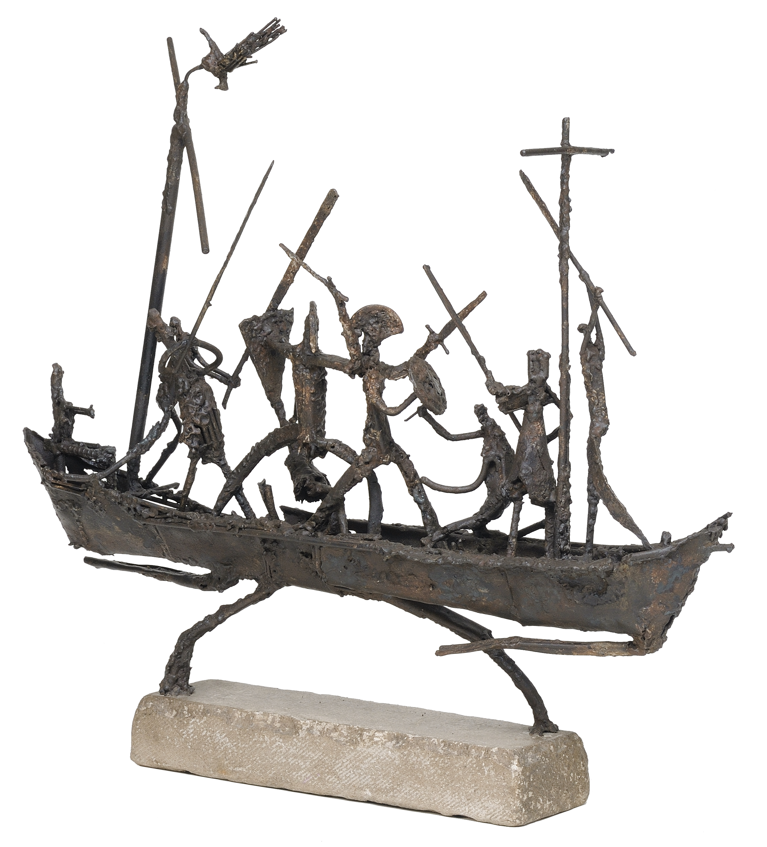 Mutiny of the galley slaves    aço soldado  70 X 80 cm