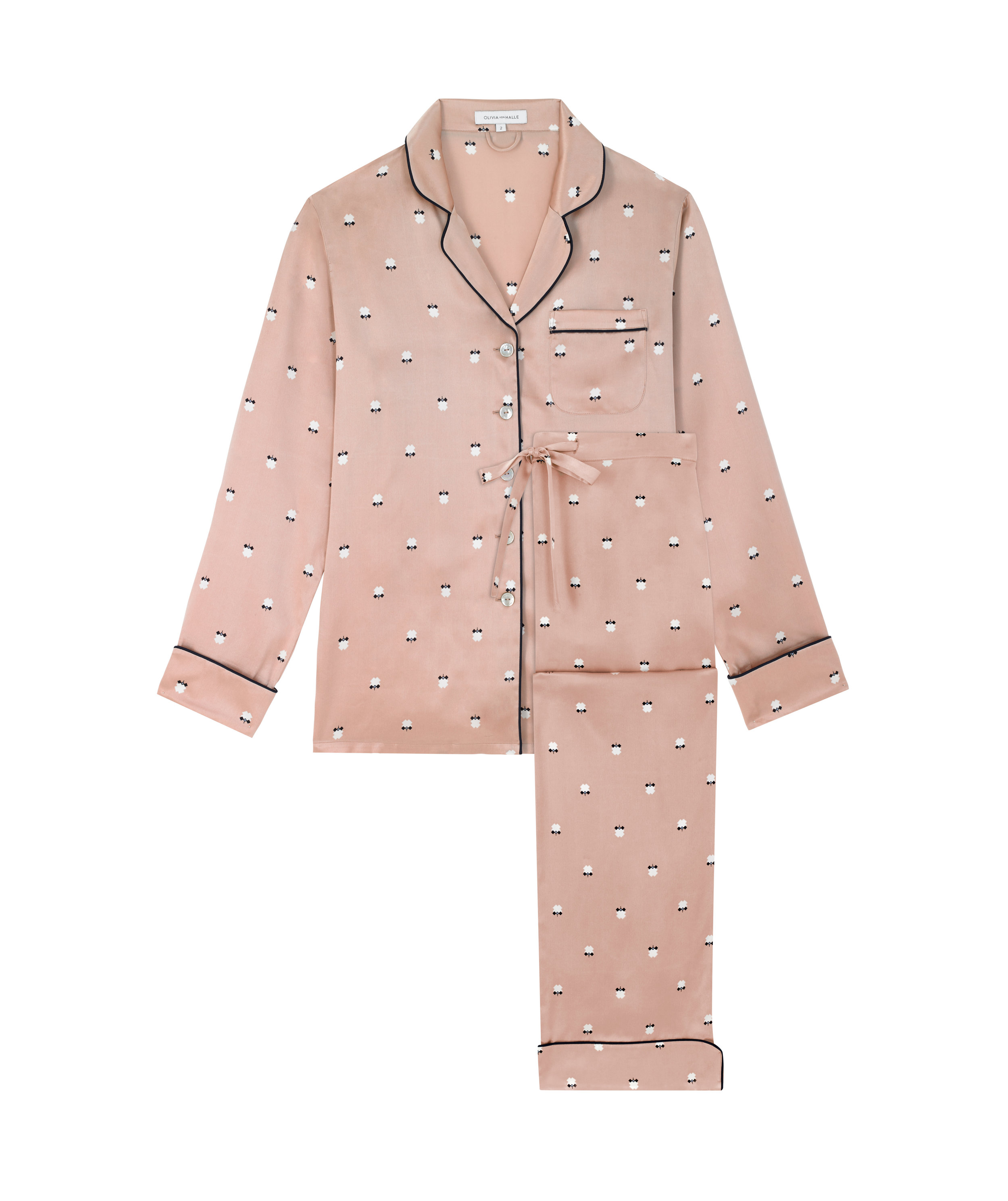 OLIVIA VON HALLE LILA DOLLY SILK PYJAMA, AVAILABLE AT OLIVIA VON HALLE