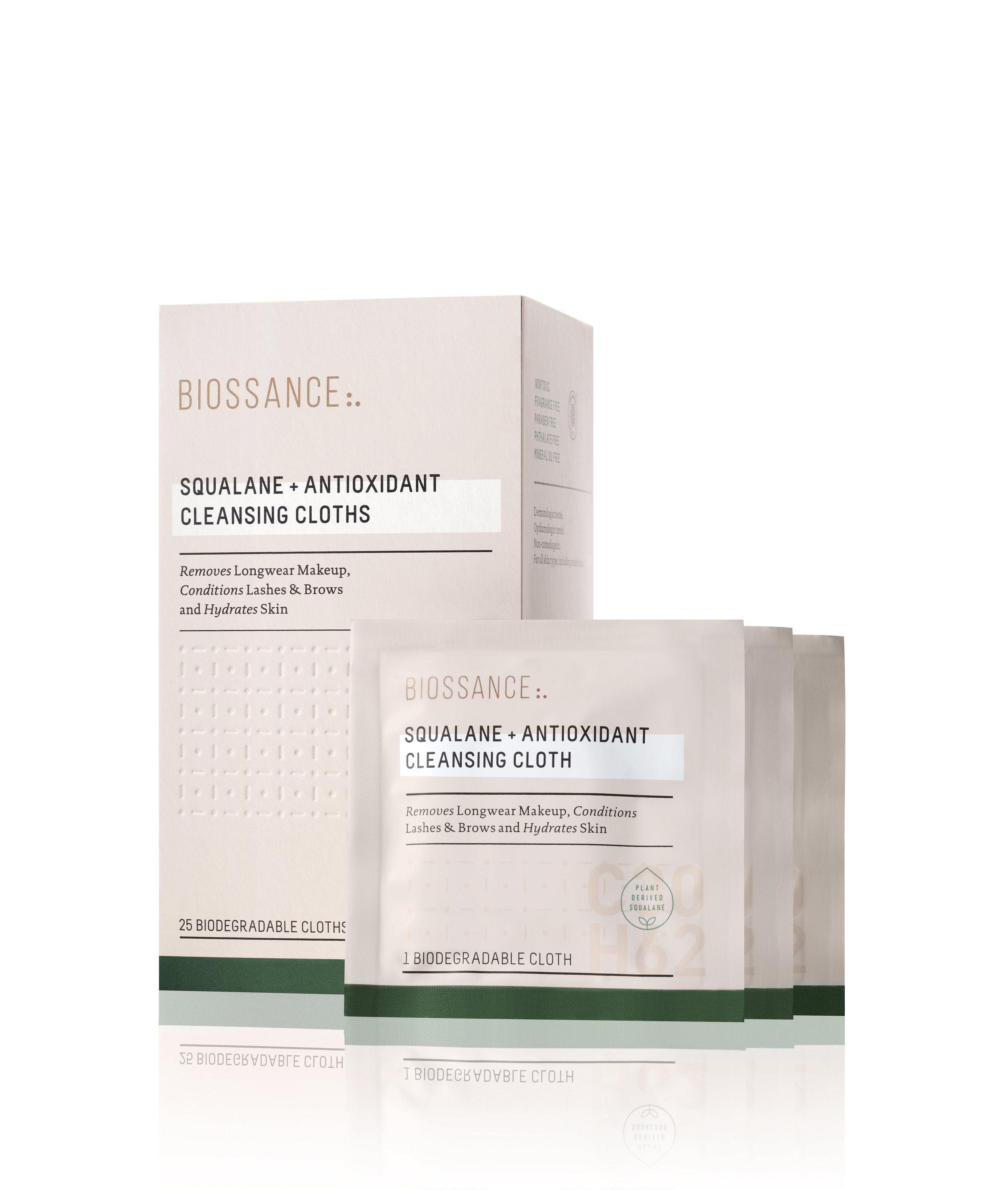 Bioessance Squalane+antioxidant cleansing cloth, Available at Bioessance