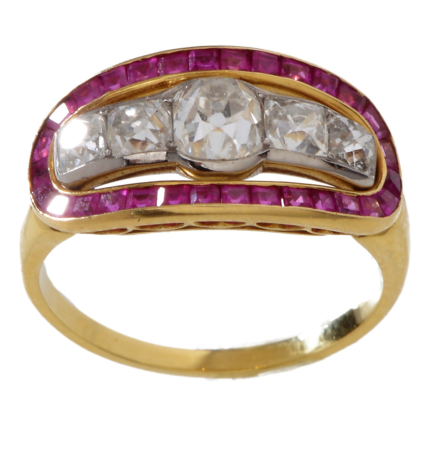 Turner and Tatler Gold, Diamond and Ruby Ring, Available at Turner and Tatler