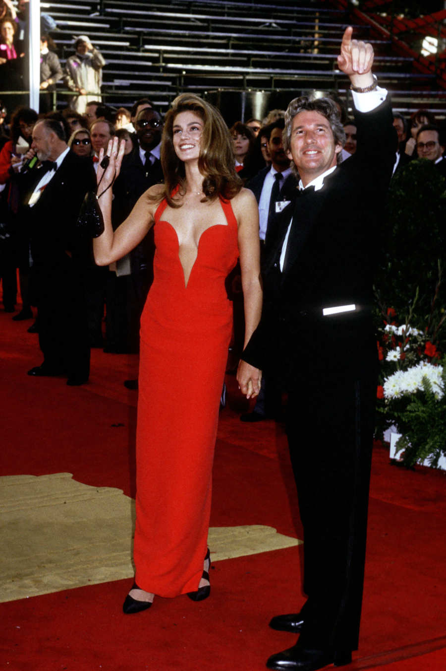 CINDY CRAWFORD, OSCARS 1991 IN VERSACE