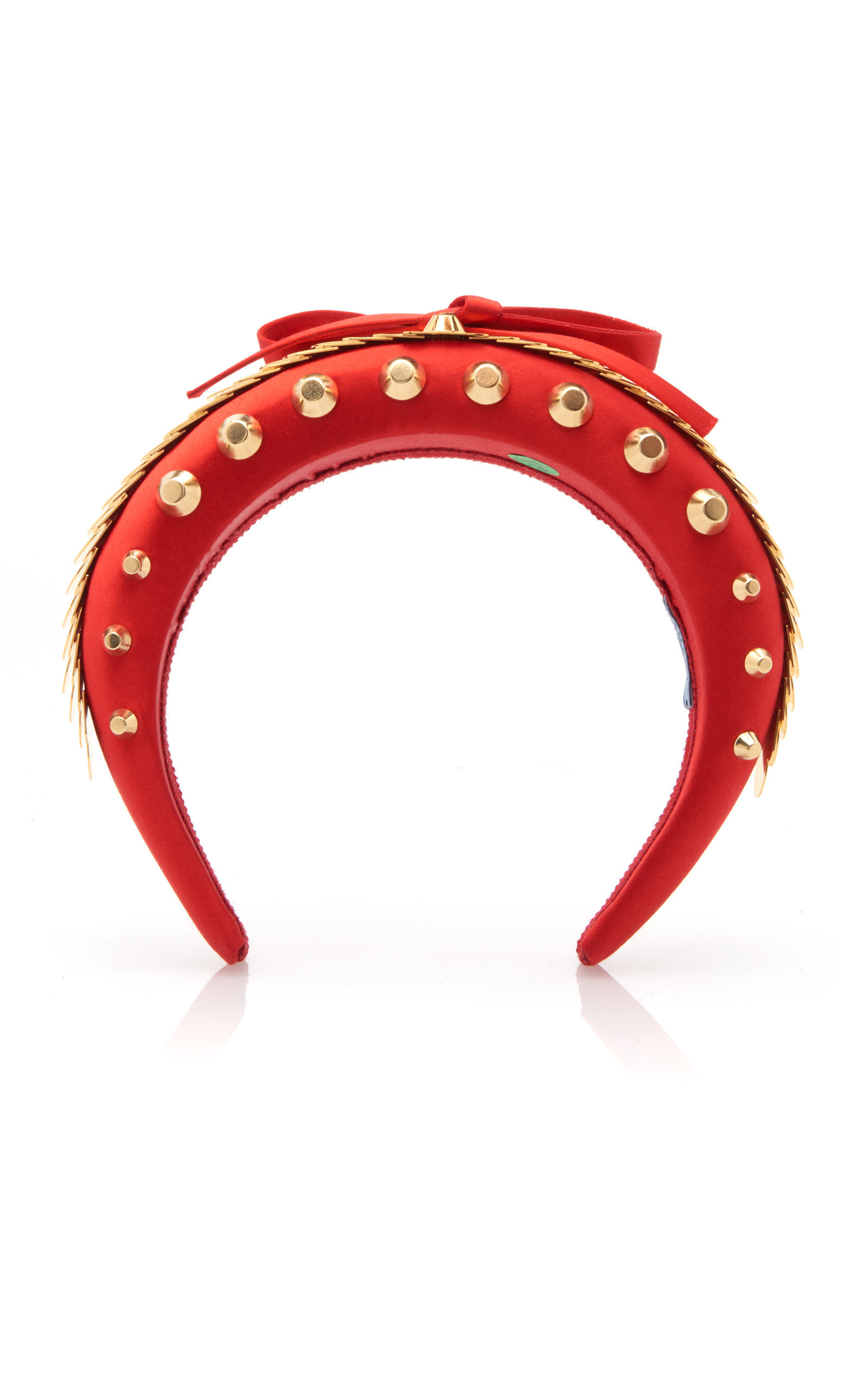 PRADA Bow-Detailed Embellished Satin Headband, AVAILABLE AT MODAOPERANDI