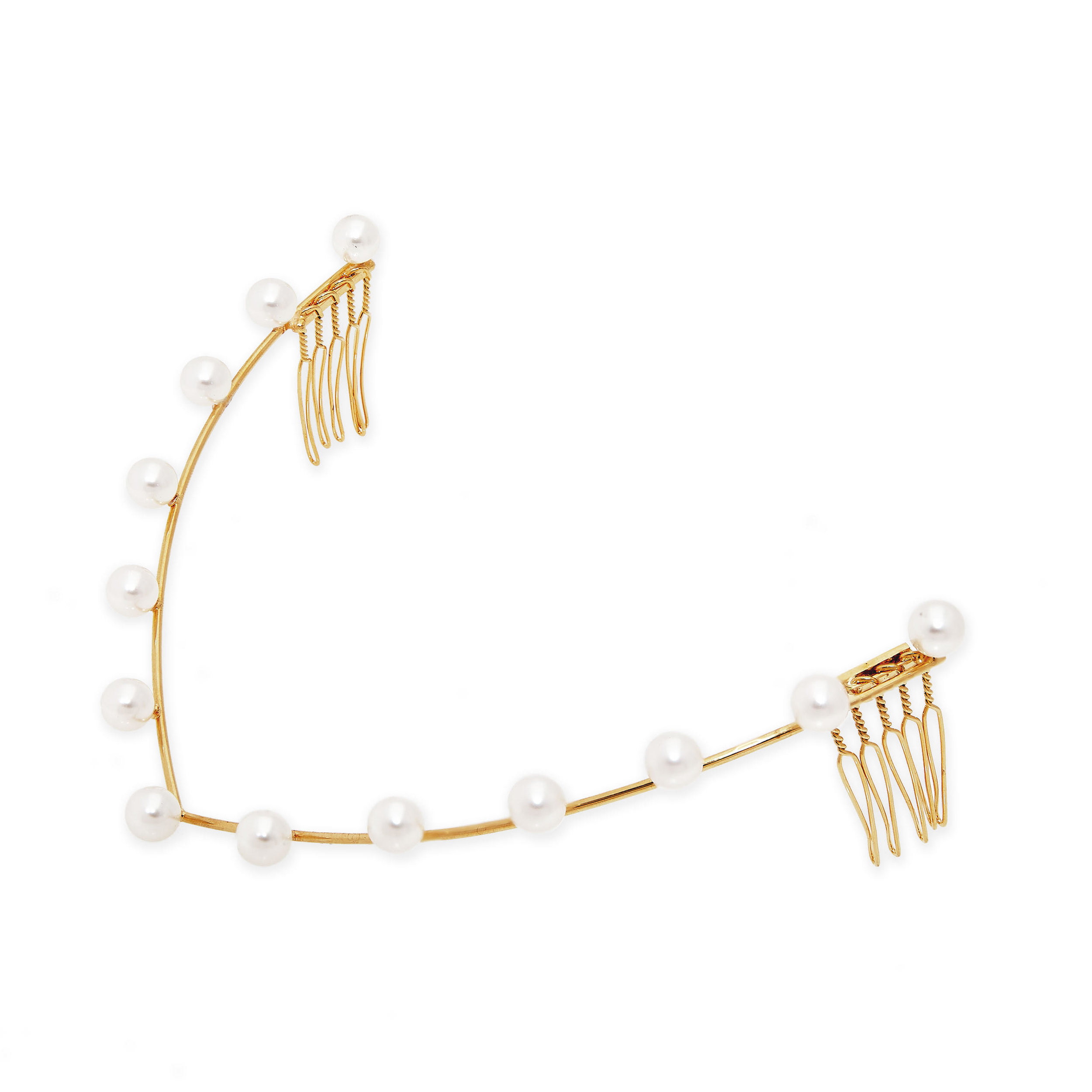LELET NY Gold-plated Swarovski pearl headband, AVAILABLE AT NET-A-PORTER