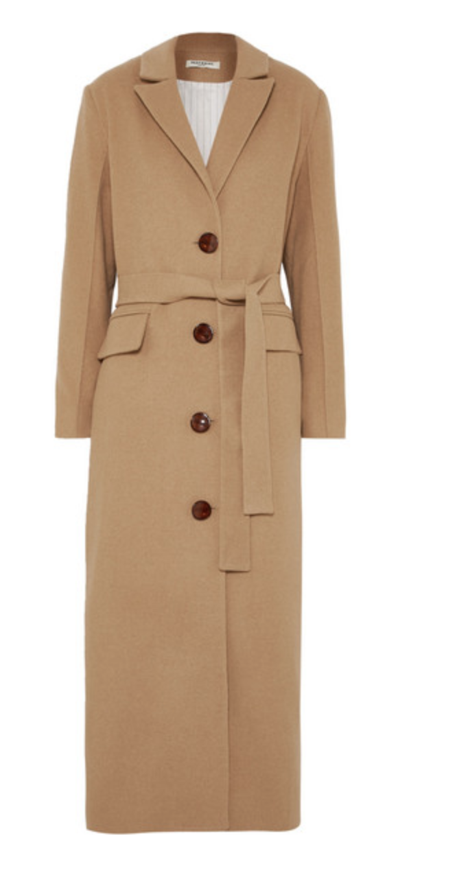 Meteriel Belted felt coat, available at net-a-porter
