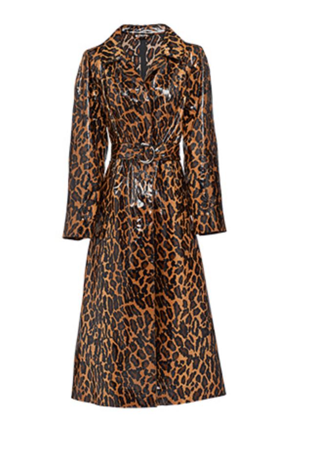MIU MIU leopard print trench coat, AVAILABLE AT FARFETCH