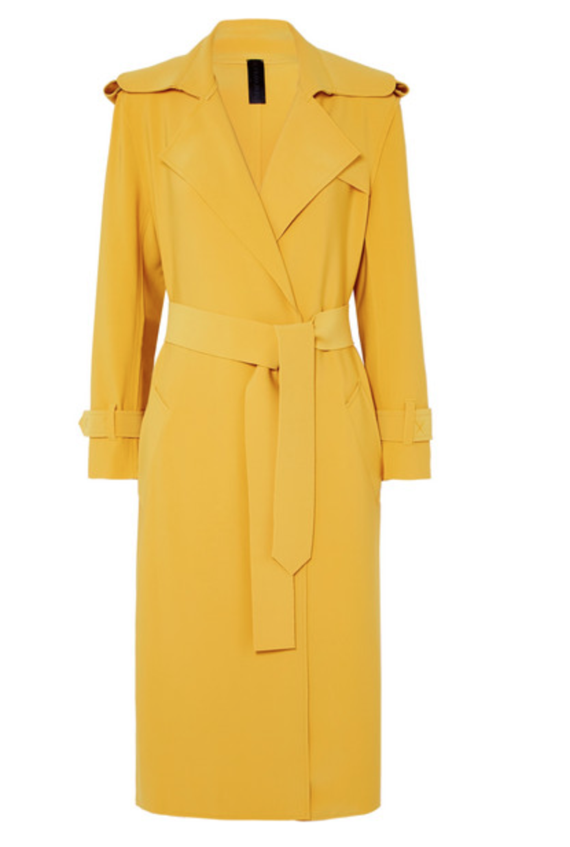 NORMA KAMALI Belted cady trench coat, AVAILABLE AT NET-A-PORTER