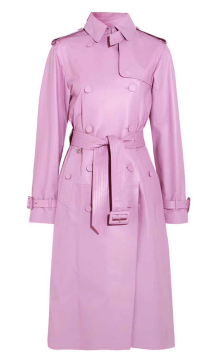 VALENTINO Leather trench coat, AVAILABLE AT NET-A-PORTER