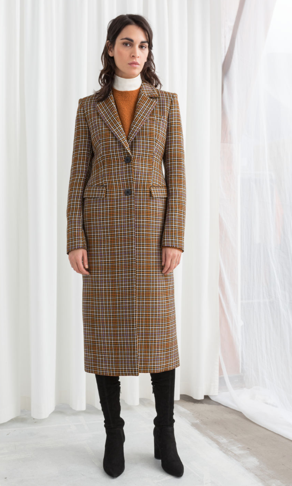 & OTHER STORIES Plaid Hourglass Coat, AVAILABLE AT &OTHERSTORIES
