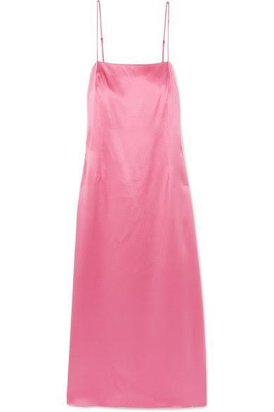 ADAM LIPPES Silk-charmeuse midi dress, available at net-a-porter