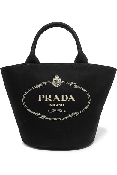 Prada Printed Canvas Tote, available at net-a-porter
