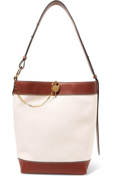 JW ANDERSONLock leather-trimmed canvas tote, available at net-a-porter