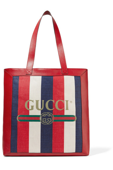 GUCCIRajah Large Patent Leather-Trimmed Suede Tote, Available at Net-A-Porter